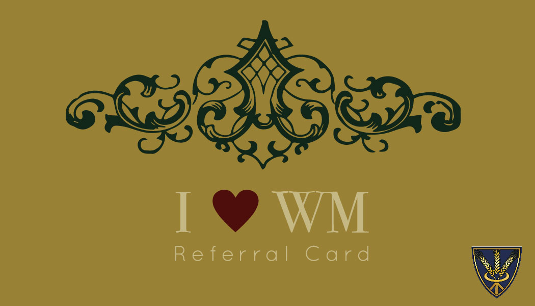 Front of referral card